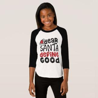 O caro papai noel define a boa camisa do Natal do
