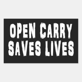 o carregar aberto salvar o autocolante no vidro adesivo retangular