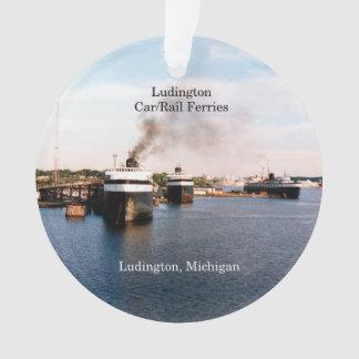 O carro/trilho de Ludington Ferries o ornamento