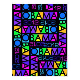 O cartão 2012 colorido de Obama, personaliza