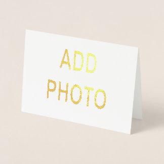 O cartão 5x7 de cumprimento da tinta metálica da