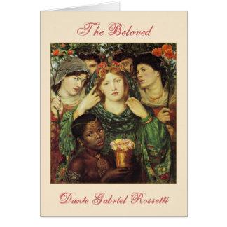 O cartão amado dos namorados do Pre-Raphaelite