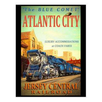 O cartão azul do trem do cometa