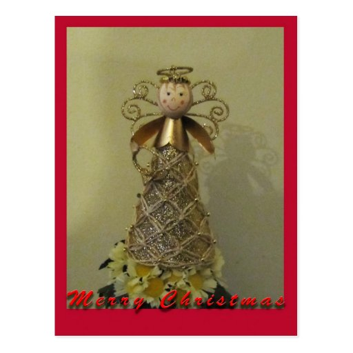 O cartão bonito do anjo cartoes postais