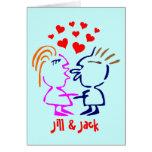 O cartão bonito dos namorados personaliza com seus