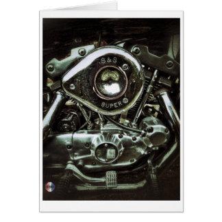 O cartão brilhante do motor