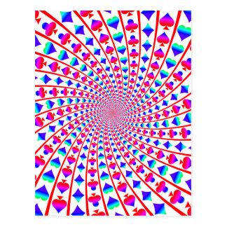 O cartão colorido sere o Vortex