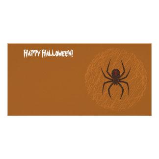 O cartão com fotos da Web de aranha Cartão Com Foto