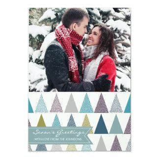 O cartão com fotos do feriado tempera o branco