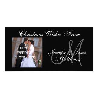ø Cartão com fotos do monograma do Natal