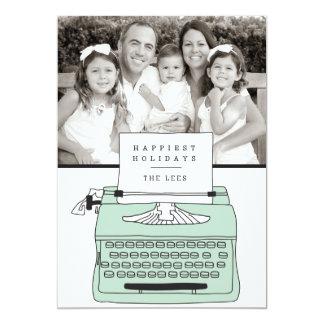 O cartão com fotos o mais feliz do feriado da convite 12.7 x 17.78cm