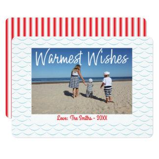 O cartão com fotos o mais morno do feriado dos