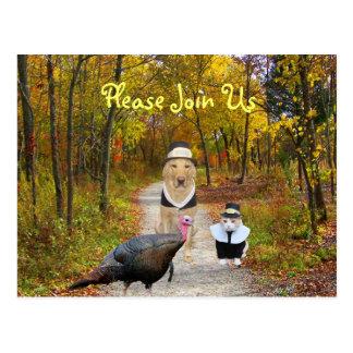 O cartão customizável da acção de graças convida cartões postais