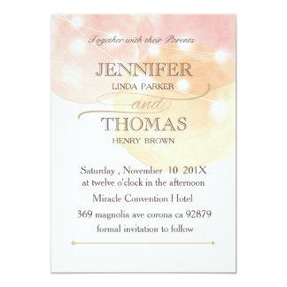 O cartão da aguarela com corda ilumina o cartão de convite 12.7 x 17.78cm