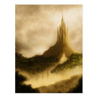 o cartão da arte da fantasia do reino do elven