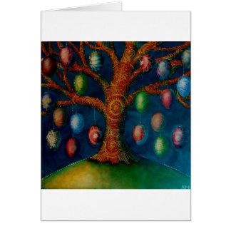 O cartão da árvore do ovo da páscoa