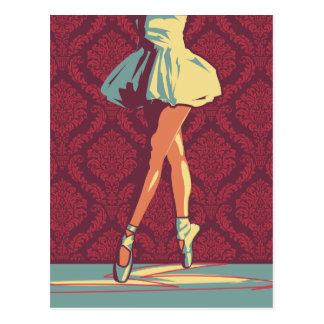 O cartão da bailarina cartão postal
