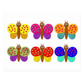 O cartão da borboleta da fantasia do bombom cartão postal