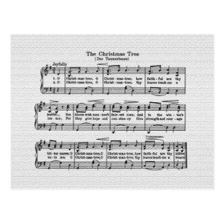 O cartão da canção da árvore de Natal