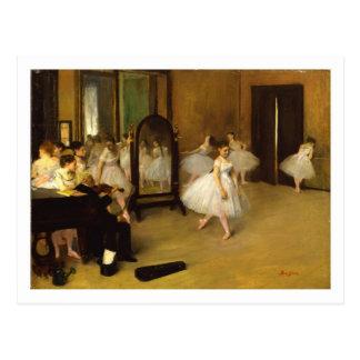 O cartão da classe de dança