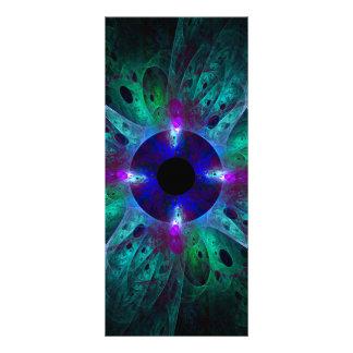 O cartão da cremalheira da arte abstracta do olho 10.16 x 22.86cm panfleto