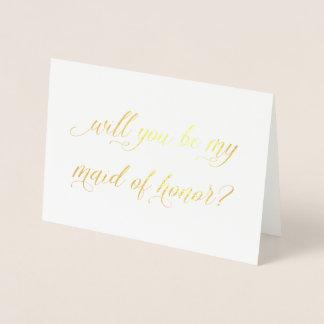 O cartão | da folha de ouro você será minha