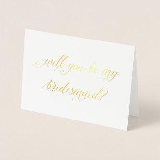 O cartão | da folha de ouro você será minha dama