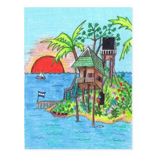 O cartão da ilha