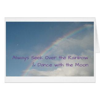 O cartão da lua & do arco-íris
