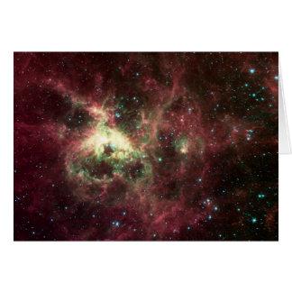 O cartão da nebulosa do Tarantula