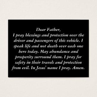 """""""O cartão da oração da caixa de luva"""