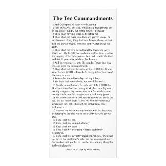 O cartão da oração de dez mandamentos 10.16 x 22.86cm panfleto