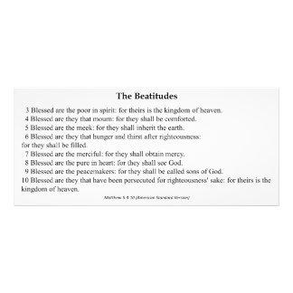 O cartão da oração dos Beatitudes 10.16 X 22.86cm Panfleto