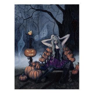 O cartão da rainha da abóbora