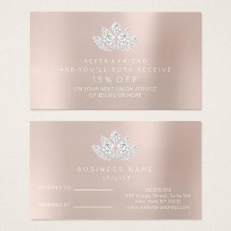 O cartão da referência do salão de beleza cora
