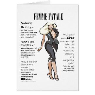 O cartão das mulheres de Femme Fatale