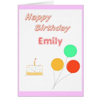 O cartão de aniversário adiciona conhecido (e