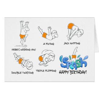 O cartão de aniversário extravagante do
