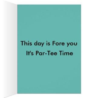 O cartão de aniversário feliz do golfe do disco do