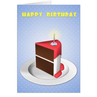 O cartão de aniversário o mais grande da fatia