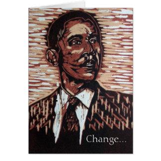 O cartão de ano novo de Obama