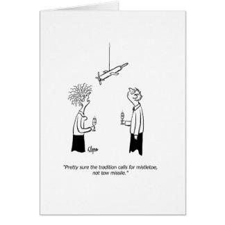 O cartão de ano novo do míssil ou do visco do