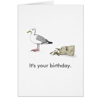 O cartão | de Bday da gaivota é seu aniversário.