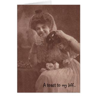 O cartão de BFF quando eu sou com você mim pode