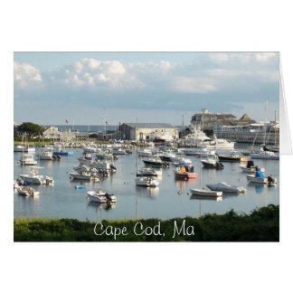 """O cartão de Cape Cod, """"desejando o estava aqui """""""