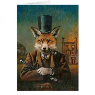 O cartão de cumprimentos Dapper do Fox