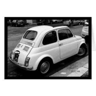 O cartão de Fiat 500
