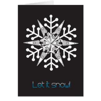 """O cartão de Natal do caiaque """"deixou-o nevar! """""""