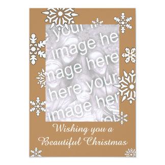 O cartão de Natal do floco de neve personaliza com Convite 12.7 X 17.78cm