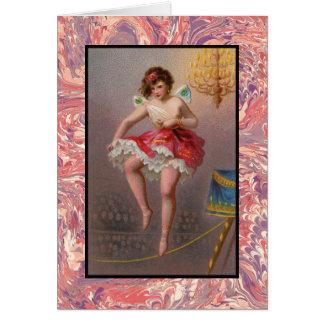 O cartão de nota da bailarina do Tightrope